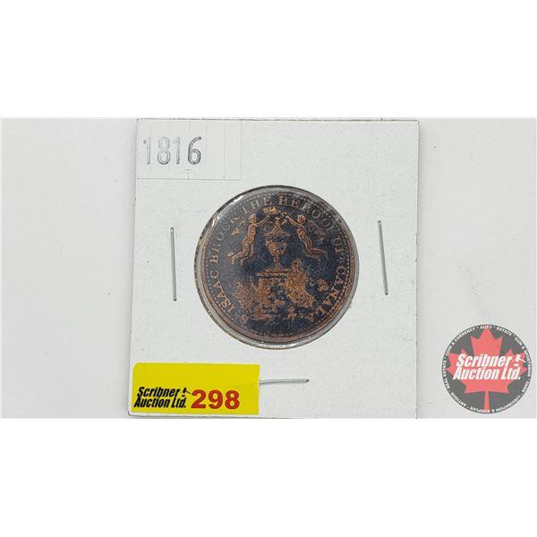 Isaac Brock the Hero of Upper Canada 1816 Coin