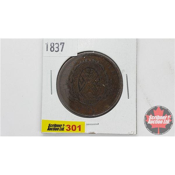 Province du bas Canada : One Penny Bank Token 1837