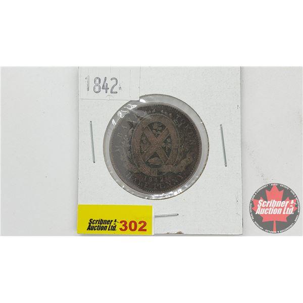 Province of Canada - Bank of Montreal : Bank Token Half Penny 1842