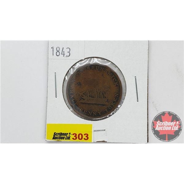 New Brunswick Half Penny Token 1843