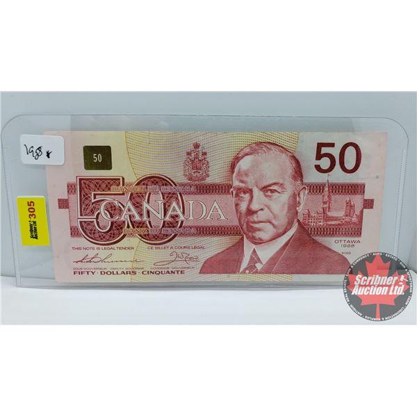 Canada $50 Bill 1988 (Replacement) : Thiessen/Crow #EHX3352188