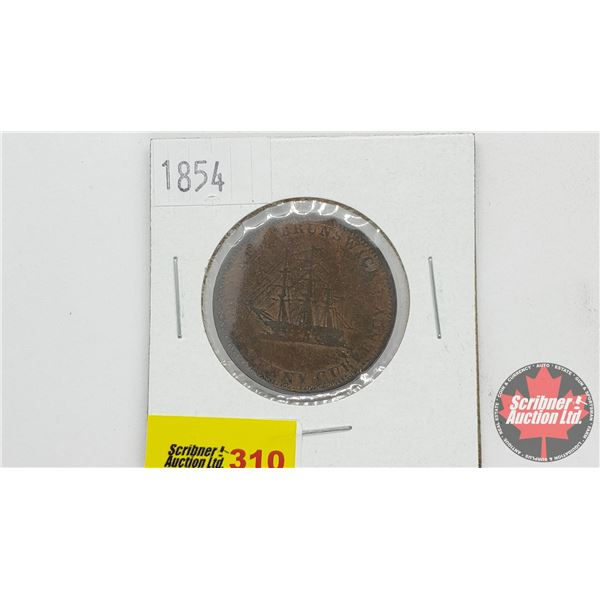 New Brunswick Half Penny Currency 1854