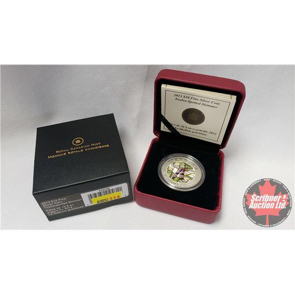 RCM 2013 Fine Silver $10 Coin : Twelve-Spotted Skimmer (99.99%) (COA 6229/10000)