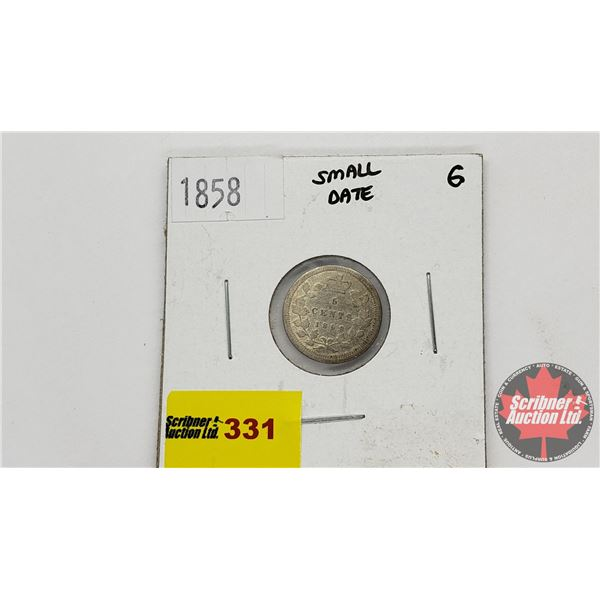 Canada Five Cent 1858 Small Date