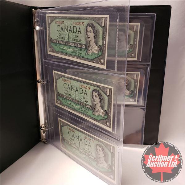 Canada $1 Bills 1954 (5 Sequential) : Lawson/Bouey #CI1385377-78-79-80-81