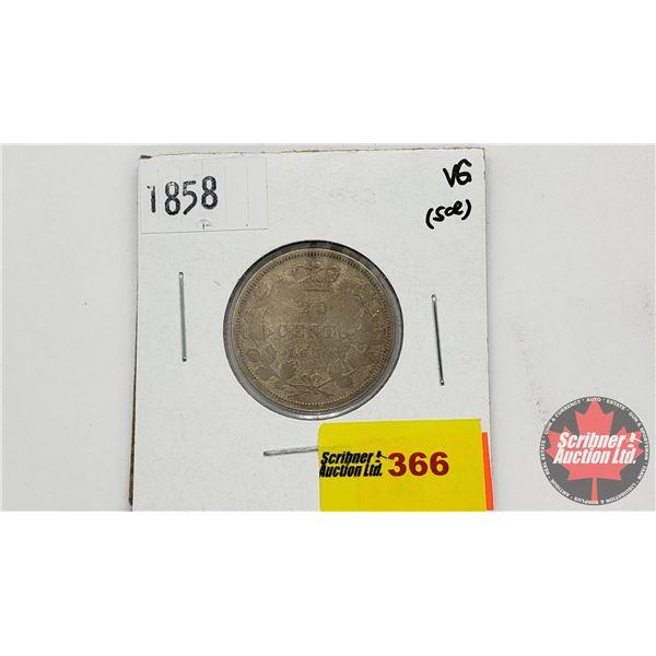 Canada Twenty Cent 1858