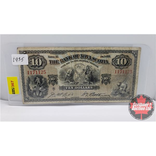 The Bank of Nova Scotia $10 Bill 1935 (S/N#1171125) (See Pics for Signatures/Serial Numbers)