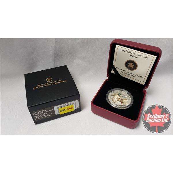 RCM 2013 Fine Silver $10 Coin : Mallard (99.99%) (COA 1953/10000)