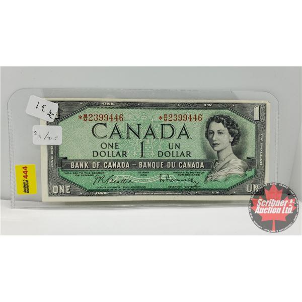 Canada $1 Bill 1954* Replacement : *BM2399446 Beattie/Rasminsky (See Pics for Signatures/Serial Numb
