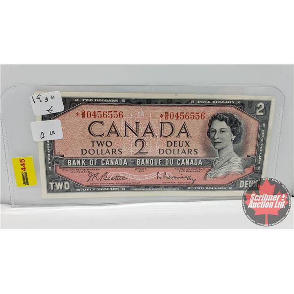 Canada $2 Bill 1954* Replacement : *BB0456556 Beattie/Rasminsky (See Pics for Signatures/Serial Numb