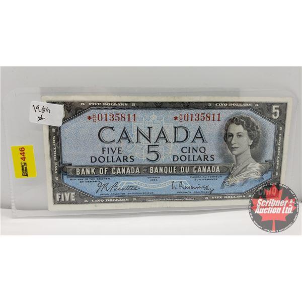 Canada $5 Bill 1954* Replacement : *RC0135811 Beattie/Rasminsky (See Pics for Signatures/Serial Numb