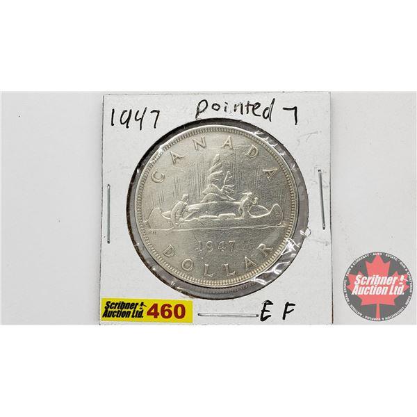 Canada Silver Dollar 1947 Ptd 7