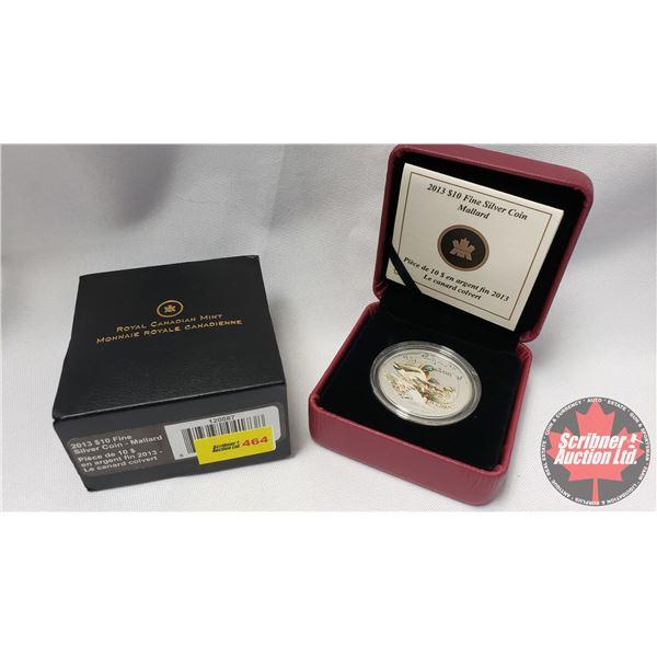 RCM 2013 Fine Silver $10 Coin : Mallard (99.99%) (COA 1924/10000)