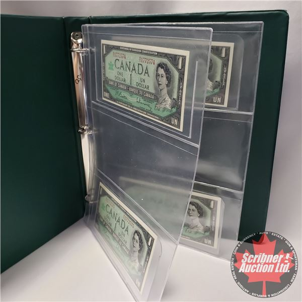 Canada $1 Bills 1967 Centennial (4 Sequential): Beattie/Rasminsky (#MO1772574-75-76-77) (See Pics fo