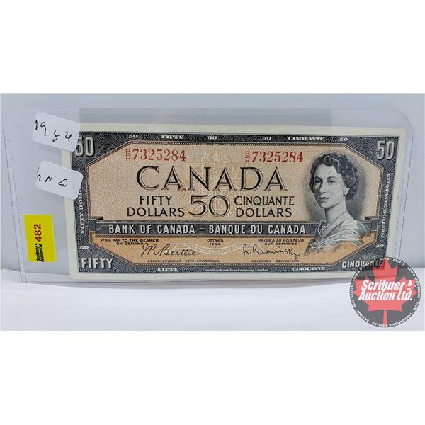 Canada $50 Bill 1954 (S/N#BH7325284 Beattie/Rasminsky) (See Pics for Signatures/Serial Numbers)