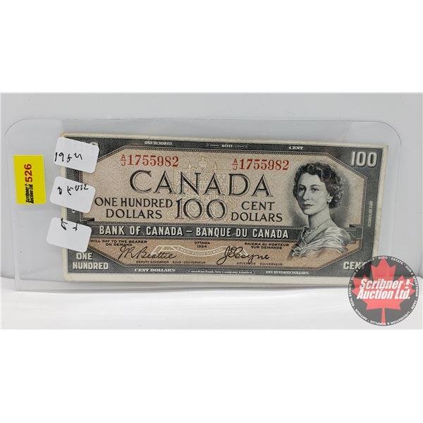 Canada $100 Bill 1954DF (S/N#AJ1755982 Beattie/Coyne) (See Pics for Signatures/Serial Numbers)