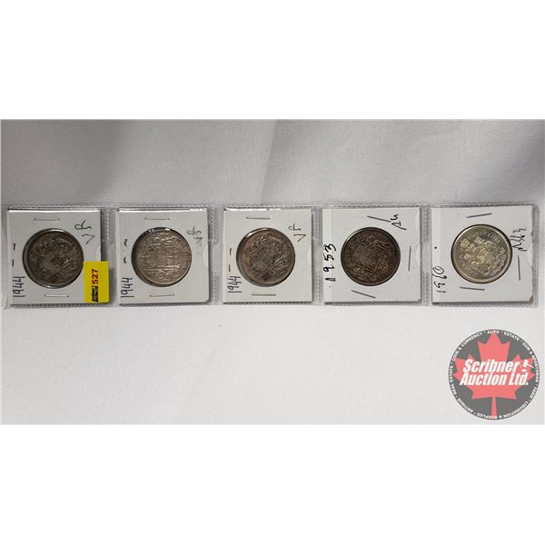 Canada Fifty Cent (5): 1944; 1944; 1944; 1953; 1960