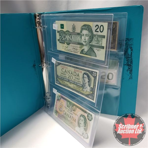 Canada $20 Bills (5): 1991 ; 1954; 1979 ; 1937 ; 2004 (See Pics for Signatures/Serial Numbers)