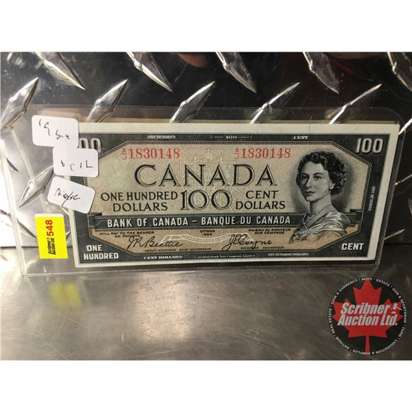 Canada $100 Bill 1954DF (See Pics for Signatures/Serial Numbers)