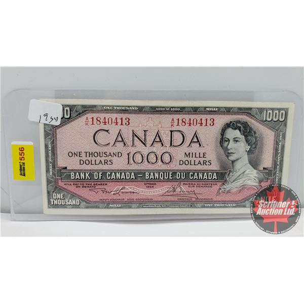 Canada $1000 Bill 1954 (S/N#AK1840413 Lawson/Bouey) (See Pics for Signatures/Serial Numbers)