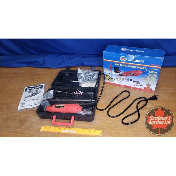 King Canada Variable Speed Rotary Tool Kit