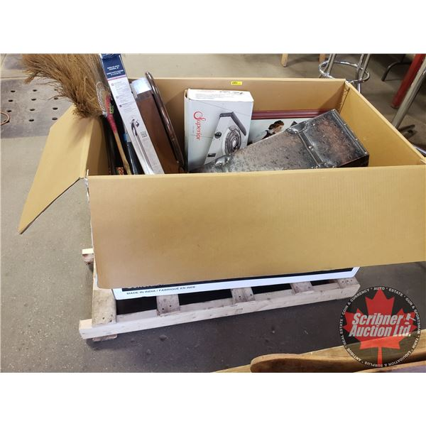 BULK BUY BOX LOT! Variety of Household, Antique & Garage Items! (Large Box Lot: 24 H x 40 W x 24 D)
