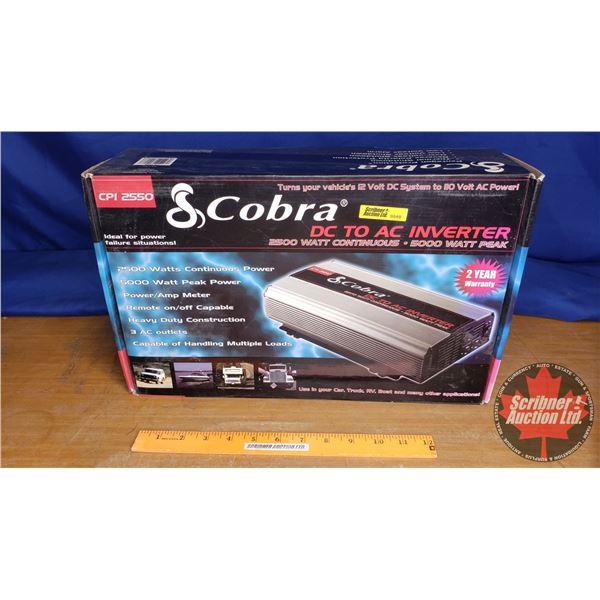 """Cobra DC to AC Power Inverter 2500 Watt (Box Measurements 17""""L x 10""""W x 5""""H)"""