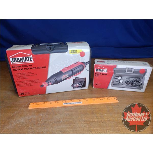 Jobmate Combo: Rotary Tool Kit & Hole Saw Kit (New in Box)