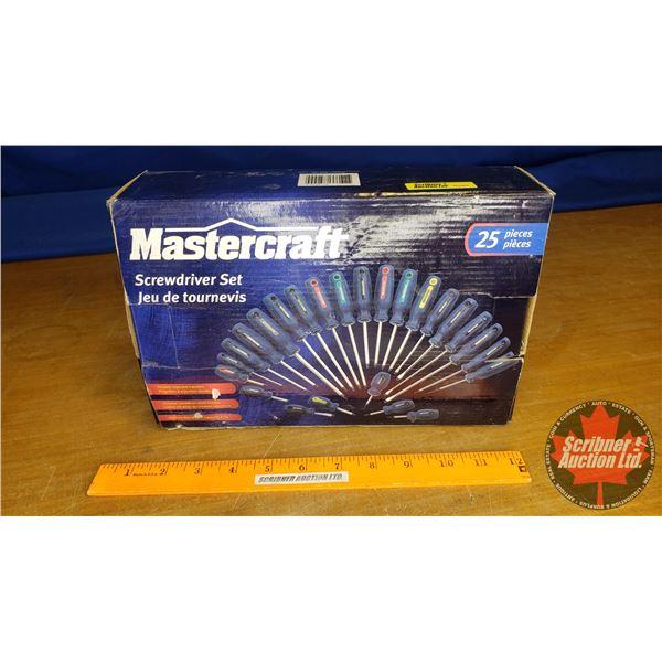 Mastercraft 25pc Screwdriver Set (New in Box)