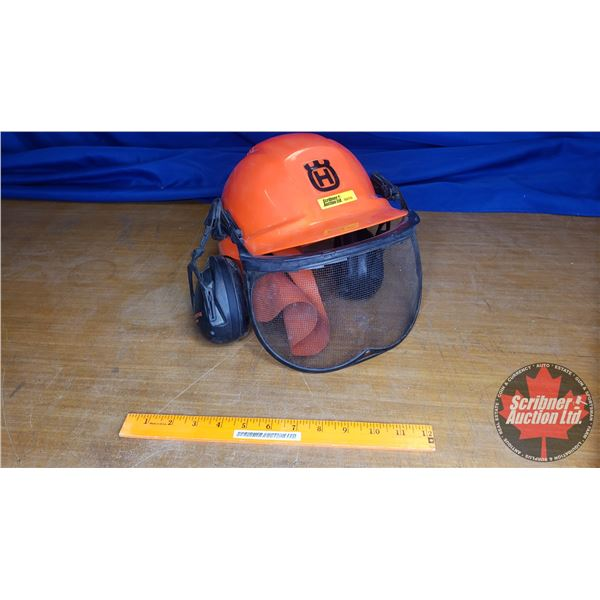 Husqvarna Hard Hat with Hearing Protection & Face Shield (for use with Chainsaw)