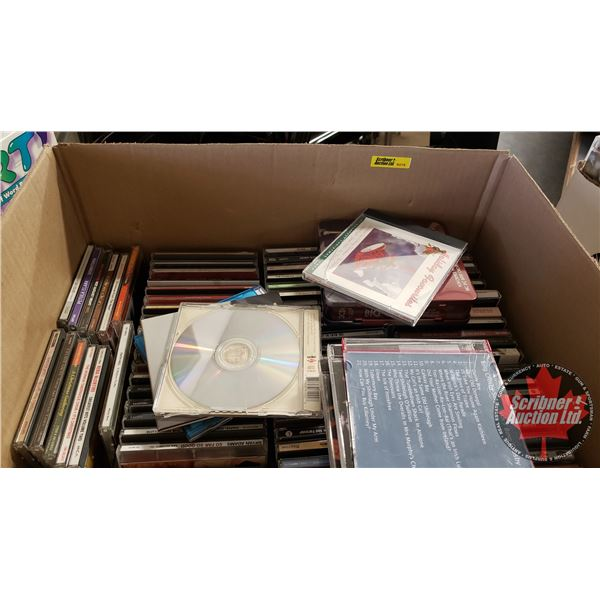 Box Lot CD's 85+ (Variety of Genres & Artists)
