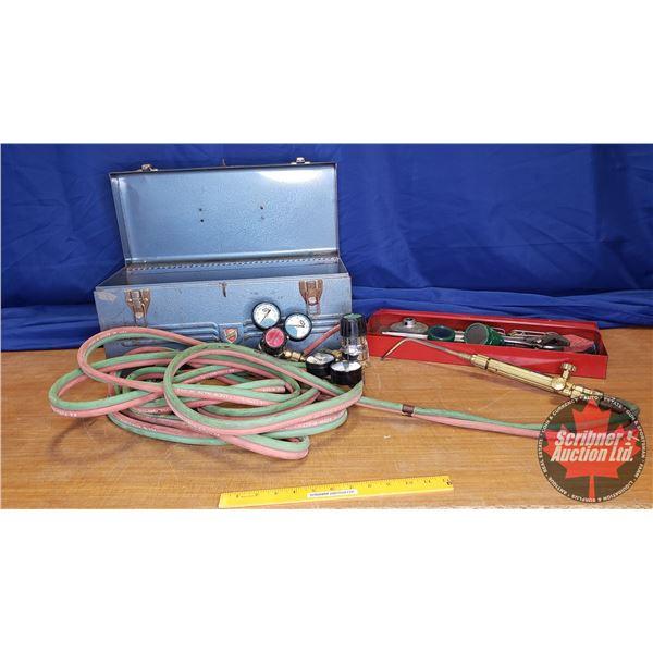 """Purox"" Torch Kit / Oxygen Acetylene 25' Hose (w/Metal Tool Box)"