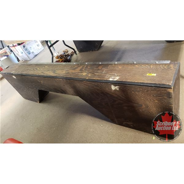 """Wooden Side Box Truck Tool Boxes (2) (73-1/2""""L x 19""""H x 8""""W)"""