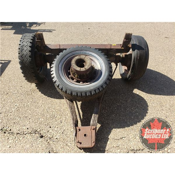 """Old Wooden Wagon Hitch (30""""H x 64""""W x 60""""D)"""