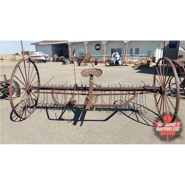 "Massey Harris Horse Drawn Hay Rake (54""H x 120""W x 60""D)"