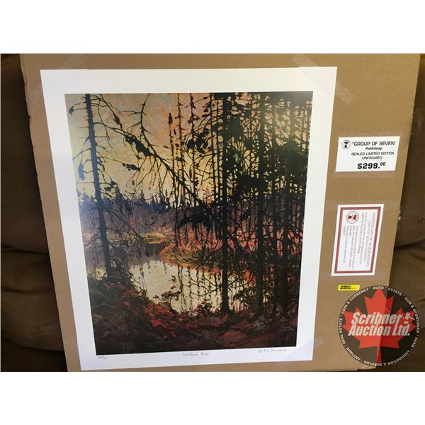 """Group of Seven ~ Limited Edition Print : Northern River """"by Tom Thomson"""" 380/777 (Unframed Print 20"""""""