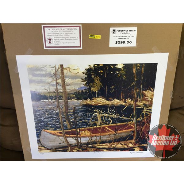 """Group of Seven ~ Limited Edition Print : The Canoe """"by Tom Thomson"""" 517/777 (Unframed Print 20""""x24"""")"""