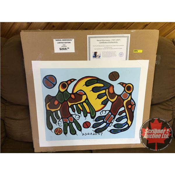 """Limited Edition Print """"by Norval Morrisseau"""" : """"Thunderbirds Sun Dance"""" 339/950 (Unframed Print 20""""x"""