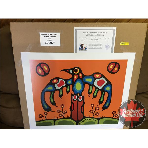 """Limited Edition Print """"by Norval Morrisseau"""" : """"Thunderbird Spirit"""" 506/950 (Unframed Print 20""""x24"""")"""