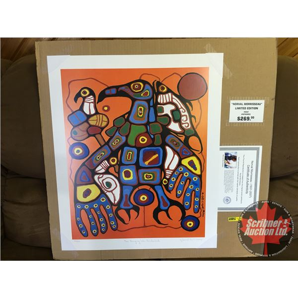 """Limited Edition Print """"by Norval Morrisseau"""" : """"Man Changing Into Thunderbird"""" 244/950 (Unframed Pri"""