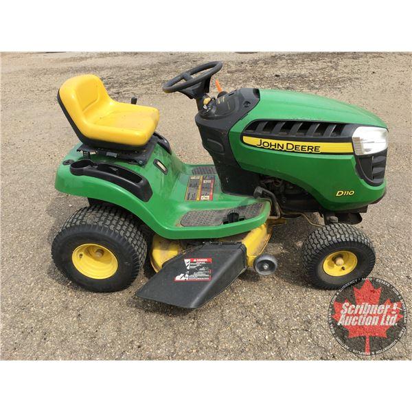 "John Deere D-110 Lawn Tractor 19.5hp Hydrostatic 42"" cut (Hour meter shows 23hrs)"