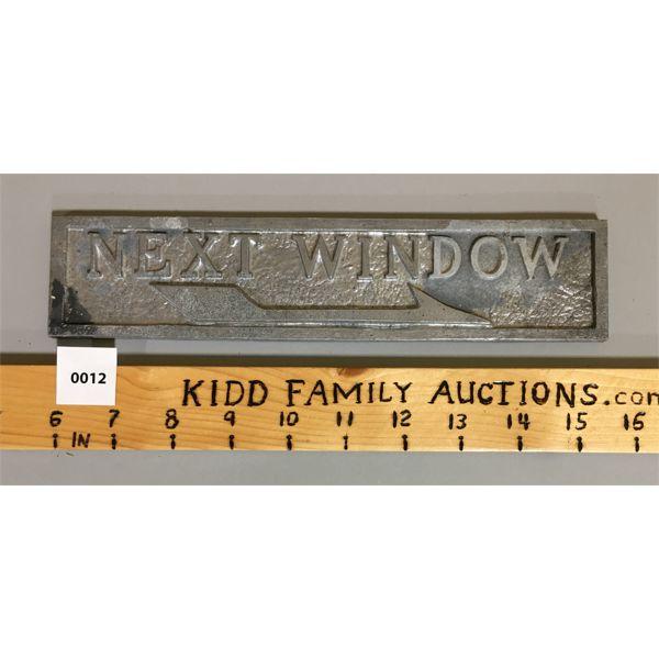 NEXT WINDOW SIGN
