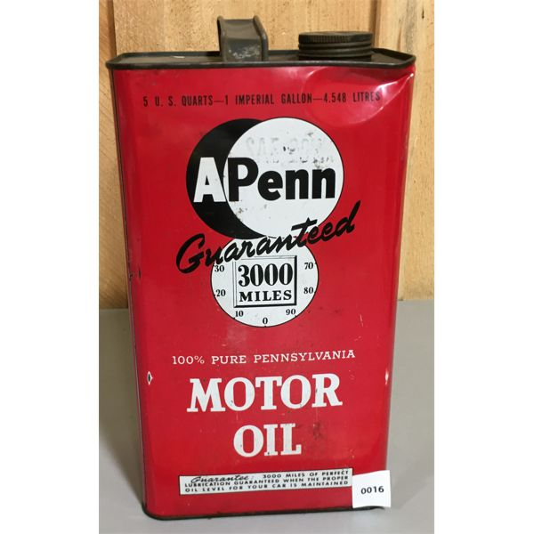 A PENN MOTOR OIL GALLON CAN