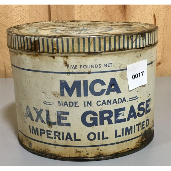 IMPERIAL OIL LIMITED 1930'S AXLE GREASE 5 POUND CAN