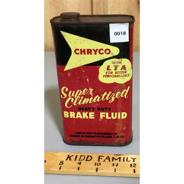 CHRYCOSUPER CLIMATIZED BRAKE FLUID FLAT QUART CAN