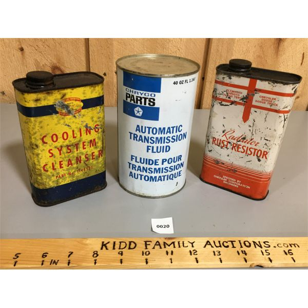 LOT OF 3 CHRYCO CANS