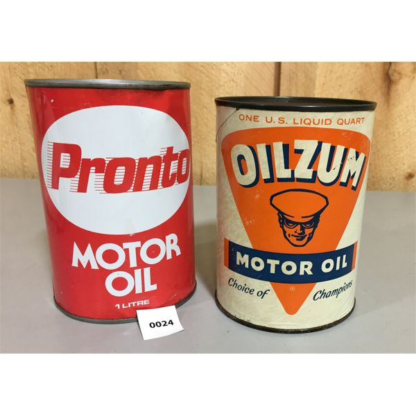 LOT OF 2 CANS OILZUM AND PRONTO