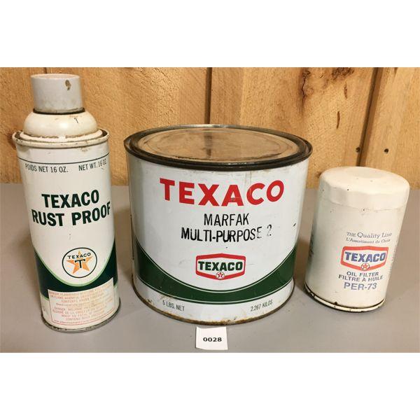 LOT OF 3 TEXACO TINS