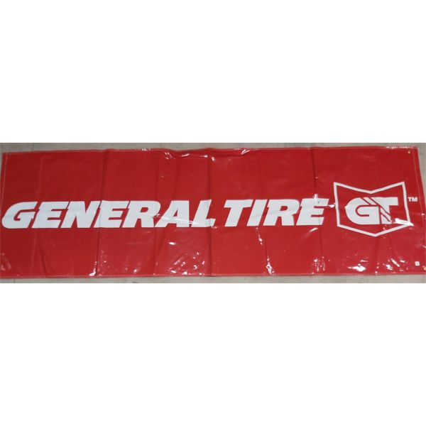 GENERAL TIRE RED GT BANNER