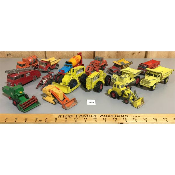 LOT OF TOY CARS, CONSTRUCTION EQUIPMENT & ETC.